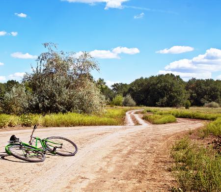 bicycle on rural road