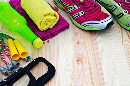 Sports equipment for fitness photo