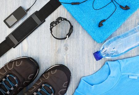 frame met sportieve accessoires voor fitness