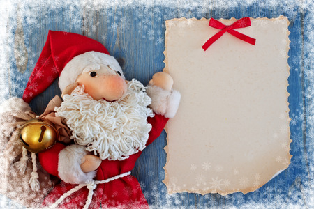 Christmas card with Santa Claus Soft toy