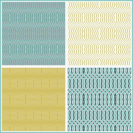 fabric samples: Set of seamless patterns. Samples of geometric patterns for fabric or mosaic