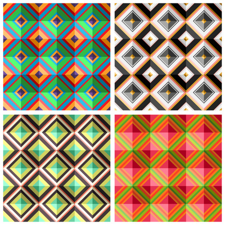 madras: Collection plaid colorful seamless patterns