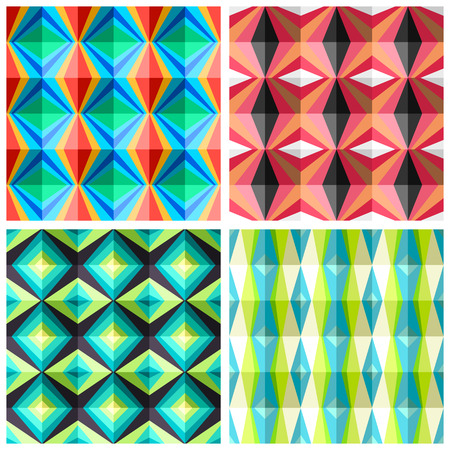 madras: Seamless patterns in a cage in retro colours