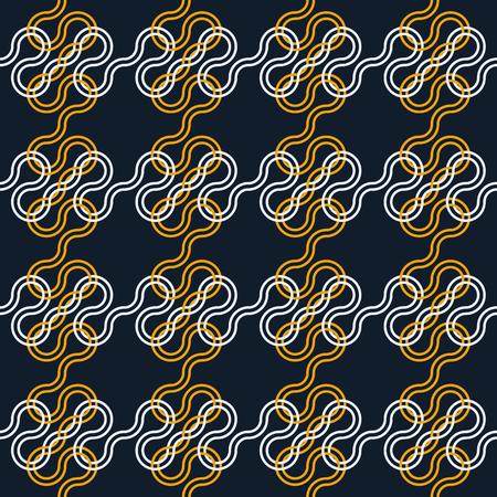 interlacing: Abstract seamless pattern with interlacing and knots Illustration