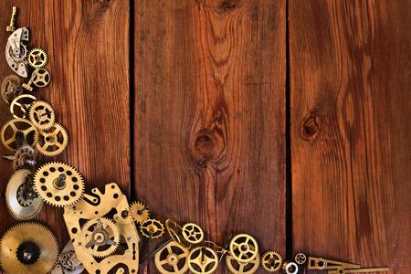 Details van de beweging op de houten tafel