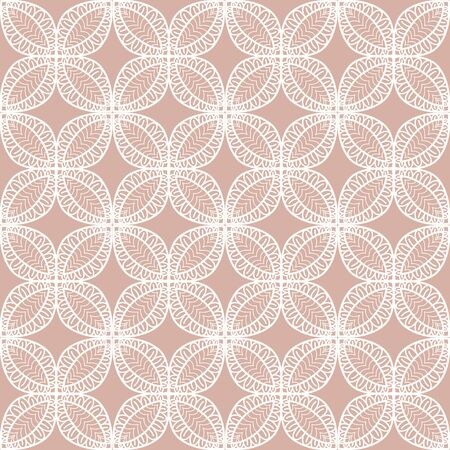 openwork: Seamless openwork pattern. The pattern of leaves and circles hand-drawn