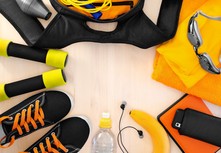 equipment: Sports equipment for fitness. athletic frame