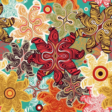 Bright seamless floral pattern. Ethnic ornament