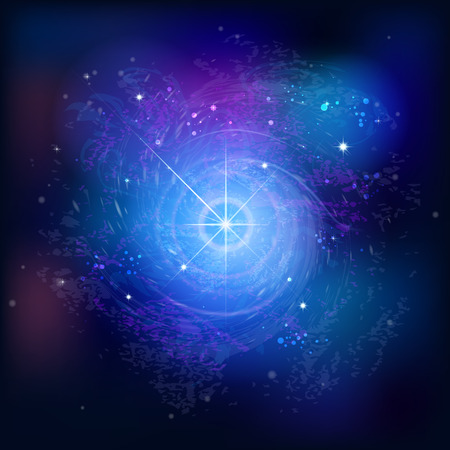 starfield: Background with stars. Space abstraction. The birth of a supernova, spiral galaxy.