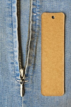 jeans detail with blank tag