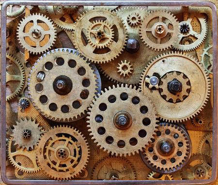 Abstract background with clockwork. Details clockwork