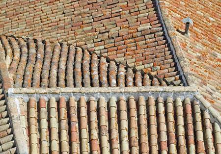 rooftiles: Classical Italian robbery Stock Photo