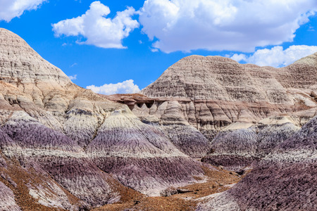 Colorful Badlands formation in Arizonas Painted Desert National Park