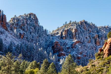 Mountains of Sedona, Arizona after a recent snowfall.