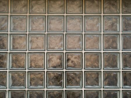 Stock photo of the texture of dirty glass blocks. Banco de Imagens