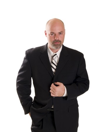 Stock photo of a well dressed confident businessman looking directly at the camera, isolated on white. Stock Photo - 8080939