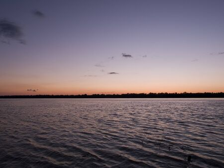 Stock photo of a sunset over the Mississippi River