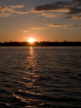 Stock photo of a sunset over the Mississippi River Stock Photo - 8050824