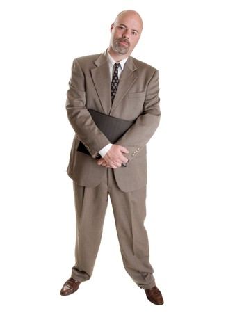 Stock photo of a well dressed businessman holding a notebook. Stock Photo - 8080914