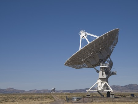 Antenna at the Very Large Array Radio Telescope in Socorro, New Mexico. photo