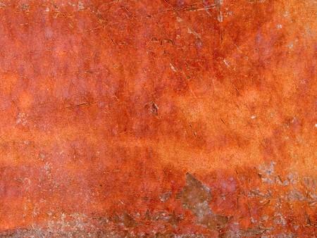 peeling paint: Foto a macroistruzione stock della trama di metallo arrugginito sotto peeling vernice.  Userful per le maschere di livello e sfondi astratti.