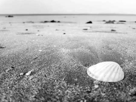Beach at Kho Jum  in Krabi, Thailand.Black and white tone.