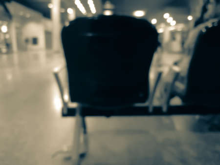 blurred of chair in airport.The loneliness of travel. Reklamní fotografie