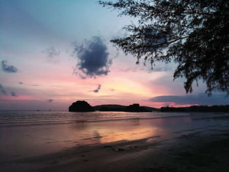 Sky and sea in  the twilight at Noppharatthara Beach,Krabi,Thiland. Reklamní fotografie