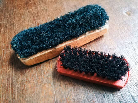 Cleaning brush for shoes.