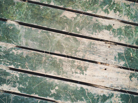 Weathered wooden floor.Old texture background. Stock Photo