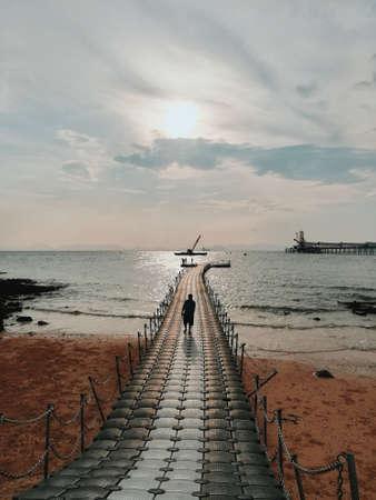 ฺBridge to the sea at Krabi,Thailand.