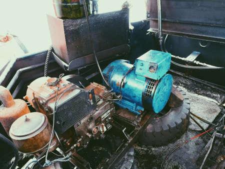 Engine of the marine.