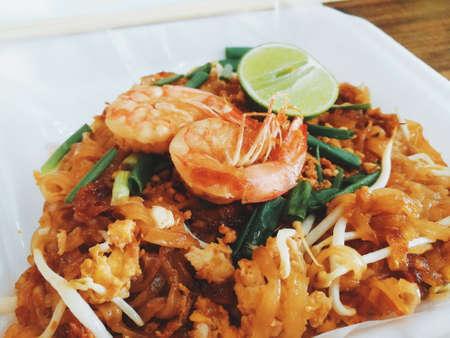 Fried Rice Sticks with Shrimp.