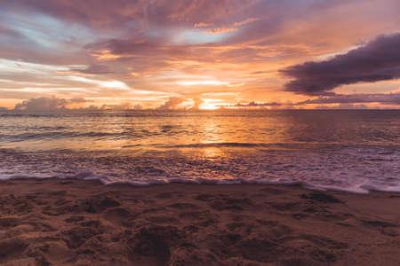 Reflection light of sun on surface of water in sea at Surin Beach Phuket, Thailand.