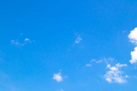 Blue sky background with clear clouds. Stock Photo