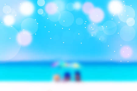 Relaxing beach, beautiful scenery tropical landscape in summer bokeh background and lighting effect sand beach.