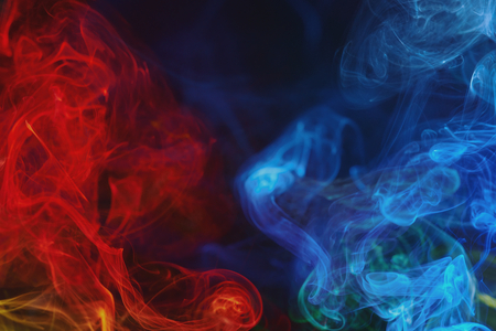 red and blue swirling smoke background pattern