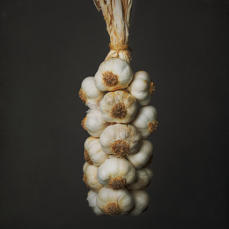 garlic braid Archivio Fotografico