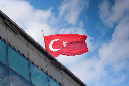predominant: Turkey flag: the red is a predominant color in Turkish history Stock Photo