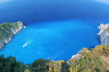 Motor boat on the azure sea