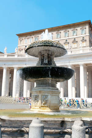 st  peter s square: Fountain on St Peter s Square in Vatican