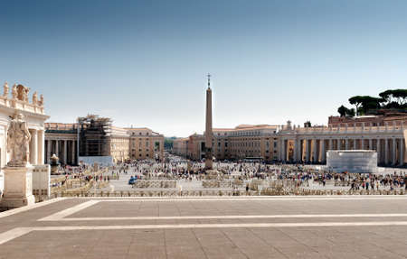 st  peter s square: St Peter s square, Vatican Stock Photo