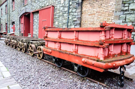Old wagon used in mine photo
