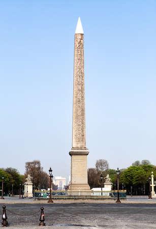 Egyptian obelisk on square Concord in Paris
