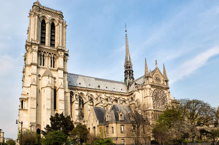 cite: Cathedral Notre Dame in Paris and river Seine