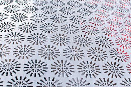 sheet metal: Perforated metal sheet in white for decoration