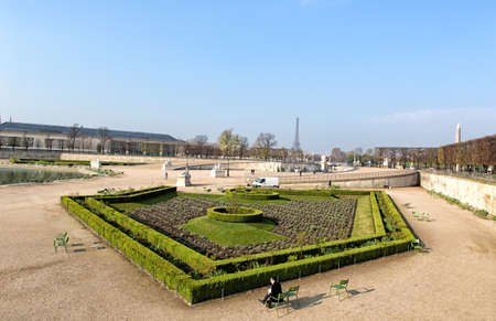 The Tuileries Garden is a public garden located between Louvre Museum and Concorde Square