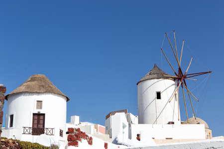 cycladic: Mulino a vento in Oia, Santorini, Cicladi, Grecia