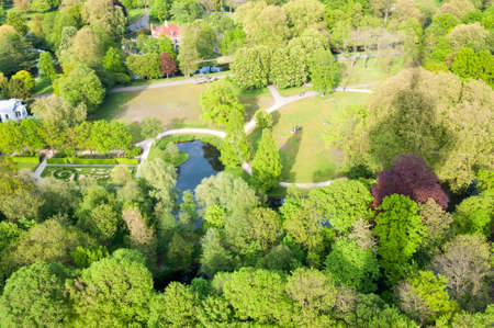 euromast: Het Park in Rotterdam from the Euromast tower the Netherlands Stock Photo