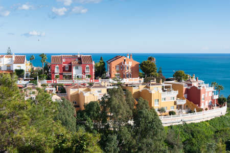 neighbourhood: Photo of a neighbourhood in Malaga, Costa del Sol, Spain Stock Photo